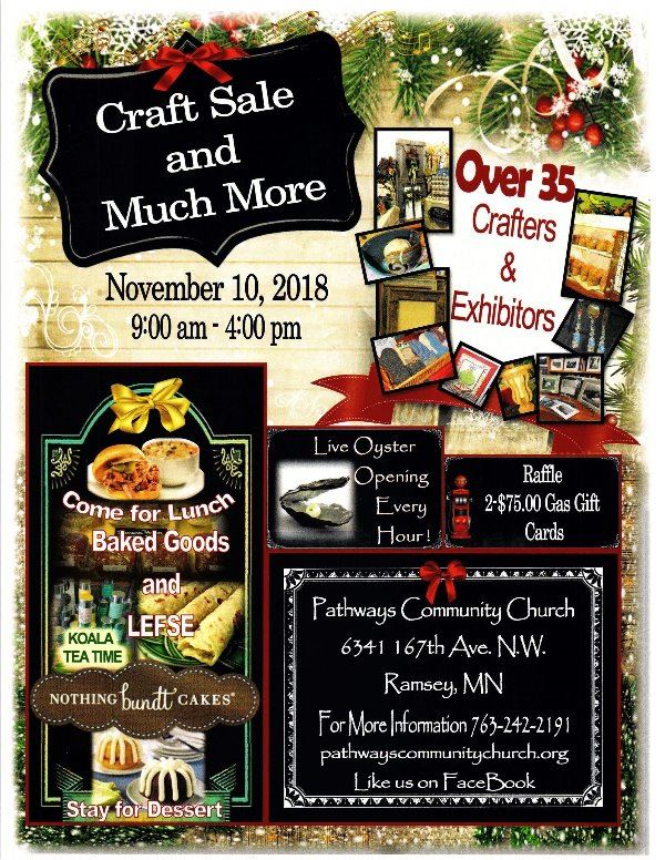 Pathways Craft Sale Flyer