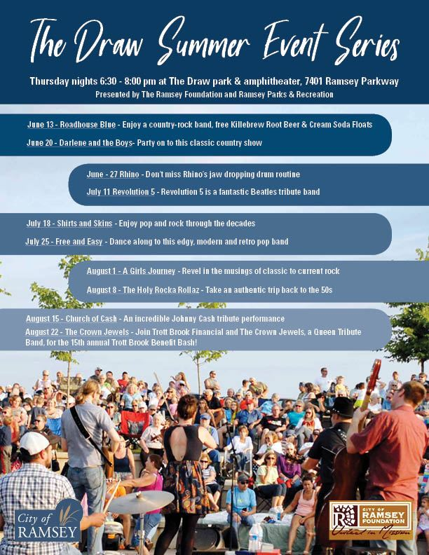 The Draw Summer Concert Series Flyer 2019