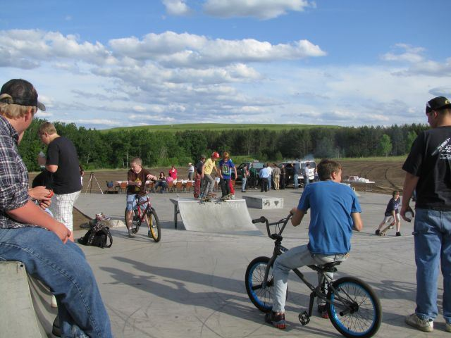 People enjoying the Skate Park